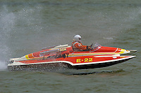 "E-22 ""Chuck Wagon"", 1970 Ron Jones 280 class cabover hydroplane..2004 Madison Regatta, Madison, Indiana, July 4, 2004..F. Peirce Williams .photography.P.O.Box 455 Eaton, OH 45320.p: 317.358.7326  e: fpwp@mac.com."