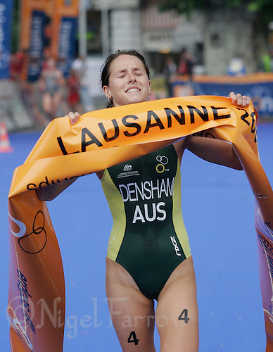 03 SEP 2006 - LAUSANNE, SWITZERLAND - Erin Densham (AUS) wins the World u23 Womens Triathlon Championships. (PHOTO (C) NIGEL FARROW)