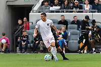 LOS ANGELES, CA - MARCH 01: Ben Sweat #22 of Inter Miami CF advances the ball in a match against LAFC during a game between Inter Miami CF and Los Angeles FC at Banc of California Stadium on March 01, 2020 in Los Angeles, California.
