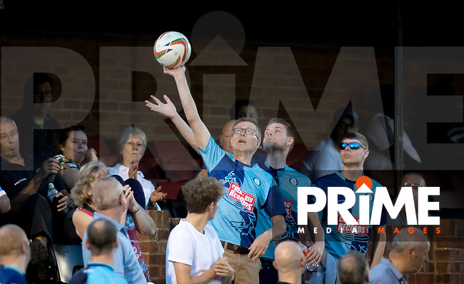 Wycombe supporters during the 2018/19 Pre Season Friendly match between Chesham United and Wycombe Wanderers at the Meadow , Chesham, England on 24 July 2018. Photo by Andy Rowland.