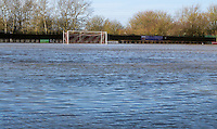 Flooding due to weather at Aylesbury FC, Haywood Way, Aylesbury. England on 08 February 2014. Photo by Andy Rowland.