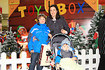 William, Valeria and Patrick MacSweeney at Santa's Grotto in the Drogheda Town Centre..Picture: Shane Maguire / www.newsfile.ie.