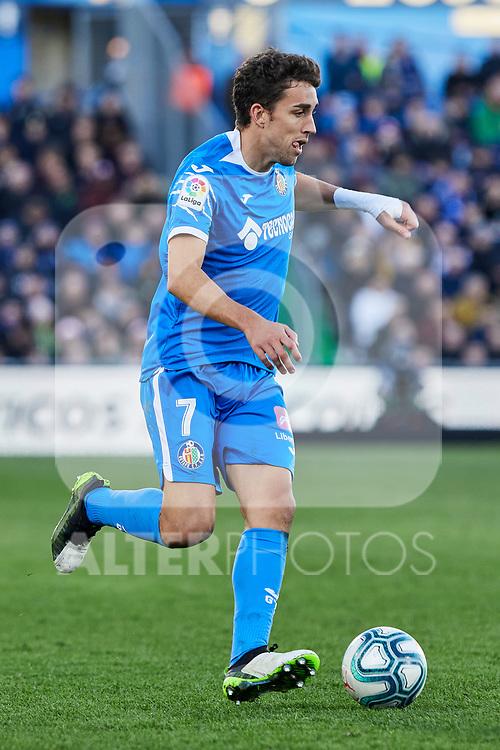 Jaime Mata of Getafe FC during La Liga match between Getafe CF and Real Madrid at Coliseum Alfonso Perez in Getafe, Spain. January 04, 2020. (ALTERPHOTOS/A. Perez Meca)