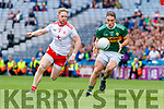 Stephen O'Brien, Kerry in action against Frank Burns, Tyrone during the All Ireland Senior Football Semi Final between Kerry and Tyrone at Croke Park, Dublin on Sunday.