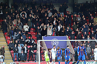 Maldon fans celebrate the first goal during Leyton Orient vs Maldon & Tiptree, Emirates FA Cup Football at The Breyer Group Stadium on 10th November 2019