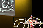 Actress Noemi Ruiz during Malaga Film Festival Gala at Teatro Cervantes.August 23 2020. (Alterphotos/Francis González)