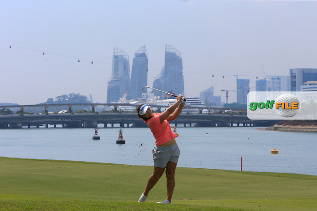 Mirim Lee (KOR) on the 15th fairway during the Pro-Am of the HSBC Women's Champions at the Sentosa Golf Club, The Serapng Course in Singapore on Wednesday 4th March 2015.<br /> Picture:  Thos Caffrey / www.golffile.ie