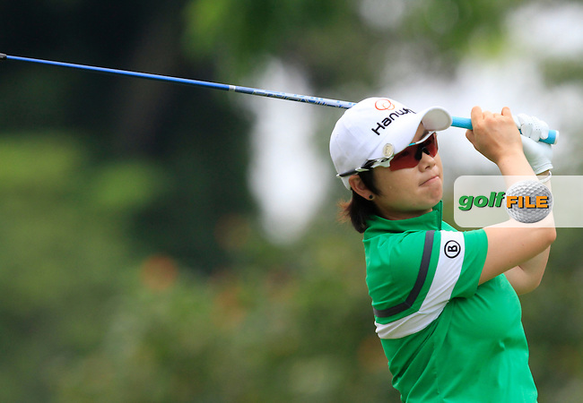 Eun-Hee Ji (KOR) on the 9th fairway during Round 2 of the HSBC Women's Champions at the Sentosa Golf Club, The Serapong Course in Singapore on Friday 6th March 2015.<br /> Picture:  Thos Caffrey / www.golffile.ie