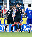 20/11/2010   Copyright  Pic : James Stewart.sct_jsp028_kilmarnock_v_rangers  .:: STEVEN DAVIS HAS A GO AT MANUEL PASCALI AFTER HIS LATE CHALLENGE ON ALLAN MCGREGOR ::.James Stewart Photography 19 Carronlea Drive, Falkirk. FK2 8DN      Vat Reg No. 607 6932 25.Telephone      : +44 (0)1324 570291 .Mobile              : +44 (0)7721 416997.E-mail  :  jim@jspa.co.uk.If you require further information then contact Jim Stewart on any of the numbers above.........