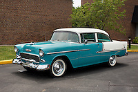 1955 Restored Junior (#125) – 1955 Chevrolet Bel Air 2-Door Sedan registered to Sebern Combs is pictured during 4th State Representative Chevy Show on Thursday, June 30, 2016, in Fort Wayne, Indiana. (Photo by James Brosher)