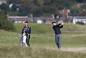6th October 2017, Carnoustie Golf Links, Carnoustie, Scotland; Alfred Dunhill Links Championship, second round; Rory McIlroy, of Northern Ireland, plays from the rough on the fourth hole on the Championship Links, Carnoustie during the second round at the Alfred Dunhill Links Championship