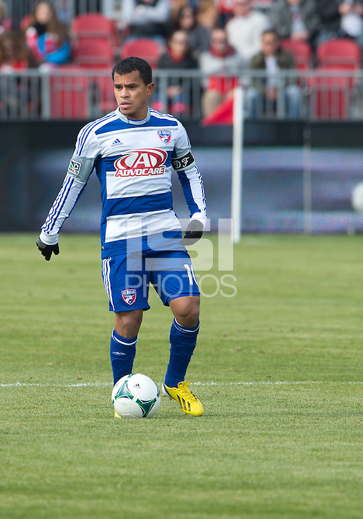 06 April 2013: FC Dallas midfielder/forward David Ferreira #10 in action during an MLS game between FC Dallas and Toronto FC at BMO Field in Toronto, Ontario Canada..The game ended in a 2-2 draw..