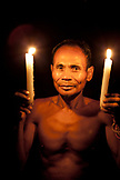 PHILIPPINES, Palawan, Barangay region, portrait of Batak Chief in Kalakwasan Village