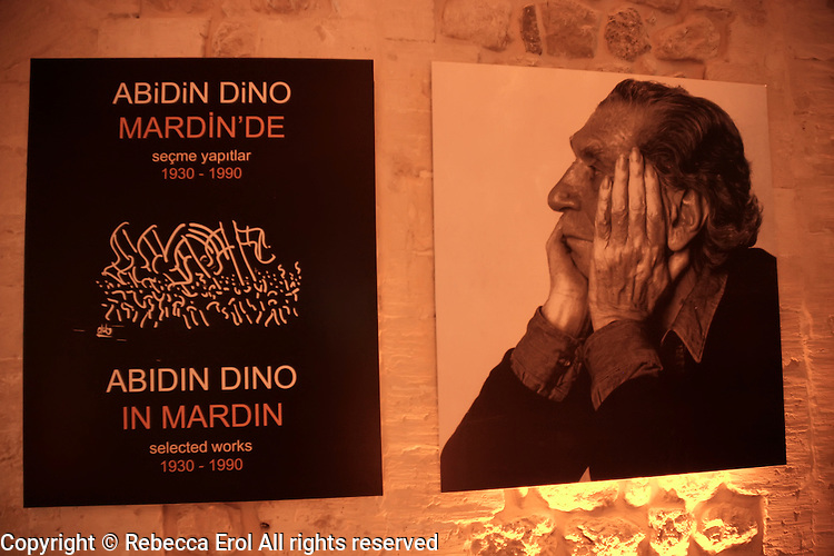 Sakip Sabanci Museum, Mardin, southeastern Turkey: exhibition for Turkish artist Abidin Dino