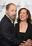 Daniel Jenkins and Karen Ziemba attends the opening night performance photo call of the Vineyard Theatre's 'Kid Victory' at the Vineyard Theatre on February 22, 2017 in New York City.