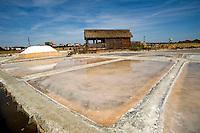 Cervia (prov. Ravenna) saline Camillone, Gruppo Culturale Civiltà Salinara,produzione artigianale del sale. La capanna dei raccoglitori