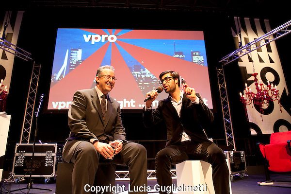 The Netherlands, Rotterdam, 28 January, 2011. .International Film Festival Rotterdam 2011 .VPRO talkshow en Ernest Van Der Kwast.Burgemeester Aboutaleb..Photo: Lucia Guglielmetti Copyright and ownership by photographer. FOR IFFR USE ONLY. Not to be (re-)distributed in any form. Copyright and ownership by photographer. FOR IFFR USE ONLY. Not to be (re-)distributed in any form.