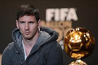 Fussball International  FIFA Ballon d Or / Weltfussballer 2012   PK   07.01.2013 Lionel Messi (Argentinien)