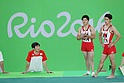 (L to R) <br /> Koji Yamamuro, <br /> Kenzo Shirai (JPN), <br /> AUGUST 3, 2016 - Artistic Gymnastics : <br /> Men's Official Training <br /> Floor Exercise <br /> at Rio Olympic Arena <br /> during the Rio 2016 Olympic Games in Rio de Janeiro, Brazil. <br /> (Photo by YUTAKA/AFLO SPORT)