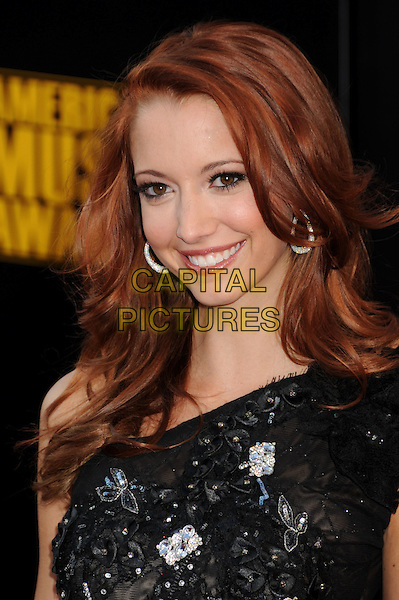TARYN SOUTHERN. 2009 American Music Awards - Arrivals held at the Nokia Theatre L.A. Live, Los Angeles, California, USA..November 22nd, 2009.headshot portrait black one shoulder  AMA AMA's jewel encrusted.CAP/ADM/BP.©Byron Purvis/AdMedia/Capital Pictures.
