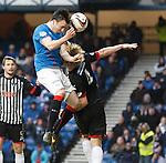 Calum Gallagher rises high but sends his shot over