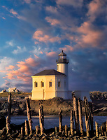 Coquille River Lighthouse. Bandon, Oregon.