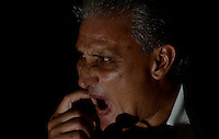 SÃO PAULO,SP,22 MARCO 2013 - TREINO CORINTHIANS.   Tite em coletiva durante treino do Corinthians no CT Joaquim Grava, no Parque Ecologico do Tiete, zona leste de Sao Paulo, na manha desta terca feira. O time se prepara para o jogo  contra o  Guarani em Campinas,  jogo valido pelo paulistao 2013. FOTO ALAN MORICI - BRAZIL FOTO PRESS