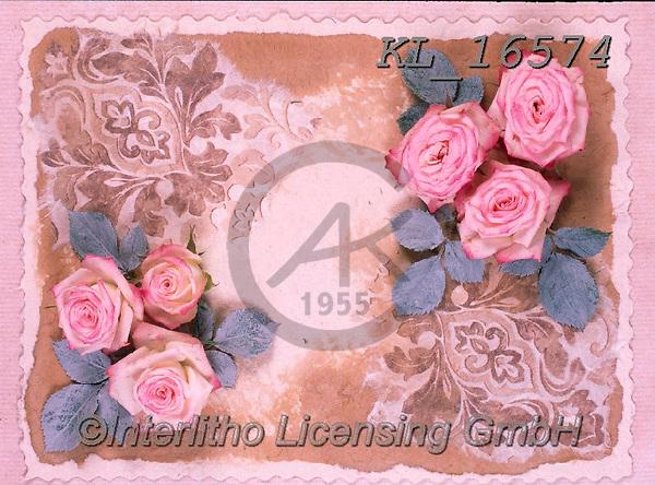 Interlitho-Alberto, FLOWERS, BLUMEN, FLORES, photos+++++,roses, parchment,KL16574,#f#, EVERYDAY ,rose,roses