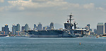 USS CARL VINSON (CVN-70) enters San Diego Bay 25 April 2013.