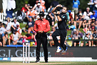 Blackcaps Tim Southee during the 5th ODI Blackcaps v England. Hagley Oval, Christchurch, New Zealand. Saturday 10 March 2018. ©Copyright Photo: Chris Symes / www.photosport.nz