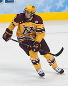 Brady Skjei (MN - 2) - The University of Minnesota Golden Gophers defeated the University of North Dakota 2-1 on Thursday, April 10, 2014, at the Wells Fargo Center in Philadelphia to advance to the Frozen Four final.