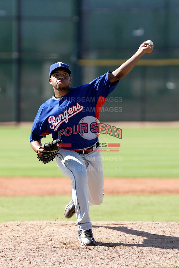 Edwin Escobar - Texas Rangers 2009 Instructional League.Photo by:  Bill Mitchell/Four Seam Images..