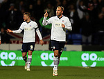 Eiour Guojohnsen of Bolton Wanderers  celebrates scoring from the penalty spot - FA Cup Fourth Round replay - Bolton Wanderers vs Liverpool - Macron Stadium  - Bolton - England - 4th February 2015 - Picture Simon Bellis/Sportimage