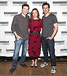 Jacob Fishel, Kristen Bush and Josh Cooke.attending the Meet & Greet for the Roundabout Theatre Company's Off-Broadway Production of 'The Common Pursuit' at their Rehearsal Studios in New York on 4/6/2012.