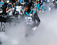 CHARLOTTE, NC - NOVEMBER 3: Jarius Wright #13 of the Carolina Panthers takes the field prior to the game during a game between Tennessee Titans and Carolina Panthers at Bank of America Stadium on November 3, 2019 in Charlotte, North Carolina.