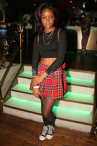 NEW YORK, NY - DECEMBER 16: Justine Skye at the Beautiful Textures Upfront 2014 at ARENA December 16, 2013 in New York City. Credit: Walik Goshorn / MediaPunch Inc.