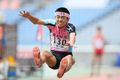 Yuki Yamauchi, <br /> OCTOBER 30, 2016 - Athletics : <br /> The 47th Junior Olympic Athletics Tournament, <br /> Men's Long Jump B Final <br /> at Nissan Stadium in Kanagawa, Japan. <br /> (Photo by AFLO SPORT)