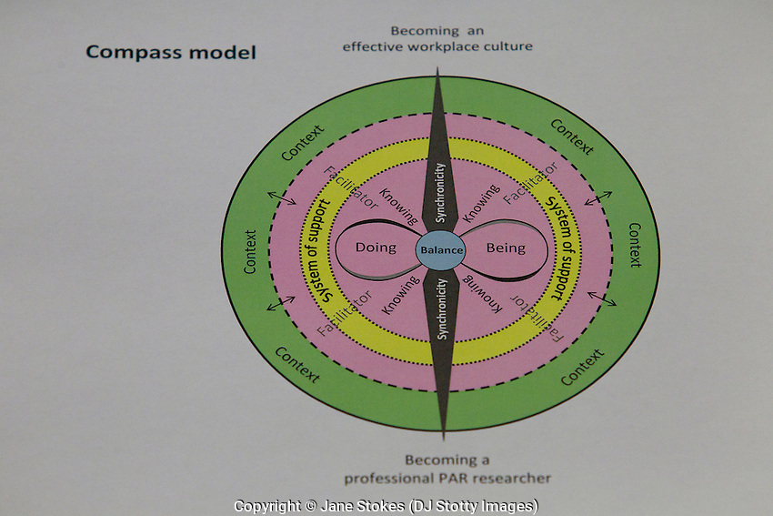 Famke van Lieshout Compass Model presented to delegates during her keynote lecture at the CARN & IPDC Conference; 'Towards Creative Action: Transformations and Collaborations in Practice' 23-25 November 2012