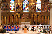 9 August 2007: Dr. Harry Edwards delivers the eulogy during the Bill Walsh memorial service at Memorial Church on the campus of Stanford University in Stanford, CA.