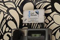 SAO PAULO, 20 DE MAIO DE 2012 - CALL PARADE SP - call parade, intervencao artistica em orelhoes da capital promovida pela Vivo, na Avenida Paulista, regiao central. Com oito circuitos artísticos, a iniciativa tem como principal objetivo chamar a atenção da população para os orelhões e conscientizar a população sobre a importância da preservação dos telefones públicos. FOTO: ALEXANDRE MOREIRA - BRAZIL PHOTO PRESS