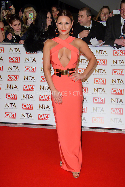 WWW.ACEPIXS.COM<br /> <br /> January 20 2015, London<br /> <br /> Sam Faiers attends the National Television Awards at the O2 Arena on January 21 2015 in London<br /> <br /> <br /> By Line: Famous/ACE Pictures<br /> <br /> <br /> ACE Pictures, Inc.<br /> tel: 646 769 0430<br /> Email: info@acepixs.com<br /> www.acepixs.com