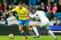 Real Madrid's Jesus Vallejo (r) and UD Las Palmas' Vitolo during La Liga match. November 5,2017. (ALTERPHOTOS/Acero)