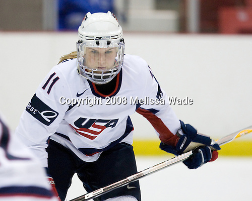 Erica McKenzie (US - 11) - Team USA defeated Team Canada 4-3 (so) to win the 2008 Four Nations Cup on Sunday, November 9, 2008, in the 1980 Rink in Lake Placid, New York.