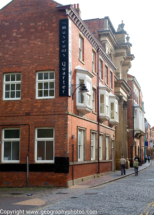 Narrow High Street in the museum quarter of the old town, Hull, Yorkshire, England