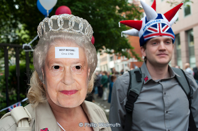 Not the Royal Wedding street partry organised by Republic.  Red Lion Square, London.