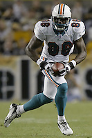 07 September 2006: Miami Dolphins' Marty Booker plays against the Pittsburgh Steelers at Heinz Field in Pittsburgh, Pennsylvania.<br />