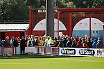 Tempers flare at half time as Hamilton and Partick Thistle fans get together between the stands
