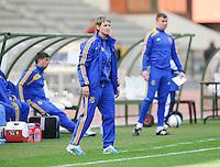 Belgium U19 - Ukraine U19 : <br /> <br /> Ukraine U19 :coach Nataliia Zinchenko<br /> <br /> foto Dirk Vuylsteke / Nikonpro.be