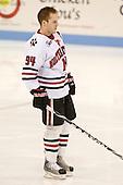 Tyler McNeely (NU - 94) - The Northeastern University Huskies defeated the Bentley University Falcons 3-2 on Friday, October 16, 2009, at Matthews Arena in Boston, Massachusetts.