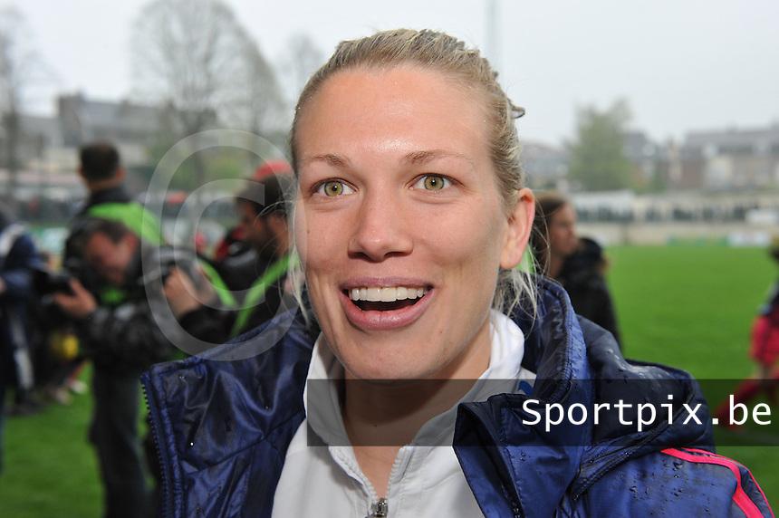 1/2 finale Coupe De France in Arras , stade Degouve : Arras - Olympique Lyonnais Lyon : Lara Dickenmann.foto JOKE VUYLSTEKE / Vrouwenteam.be